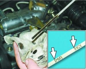уровень масла в двигателе ваз 2110